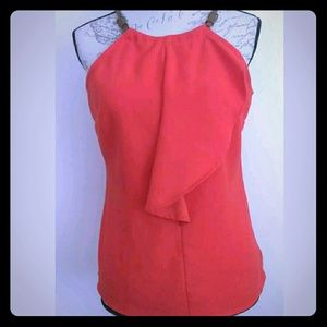 Cute Tank top Orange with brown straps